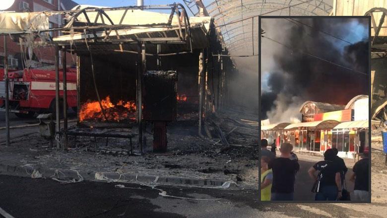 Cháy dữ dội ở một khu chợ thành phố Shakhty, tỉnh Rostov
