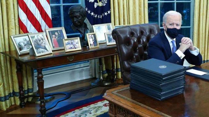Bên trong Phòng Bầu dục của ông Joe Biden