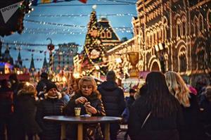 Moscow sáng lung linh chuẩn bị đón Giáng sinh và năm mới 2018