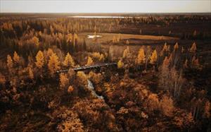 Ảnh: Tuyến đường sắt bị lãng quên của Liên Xô cũ đẹp buồn xao xuyến
