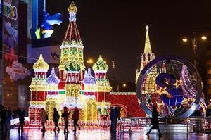 Thủ đô Moscow như xứ sở cổ tích trong mùa lễ hội