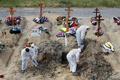 Nga ghi nhận số ca tử vong vì Covid-19 trong ngày cao nhất