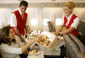 Suất ăn trong từng khoang máy bay Aeroflot