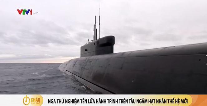 Nga thử nghiệm tên lửa hành trình trên tàu ngầm hạt nhân mới