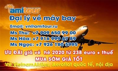 Amitour ưu đãi giá vé hè 2020 từ 238 Euro + thuế