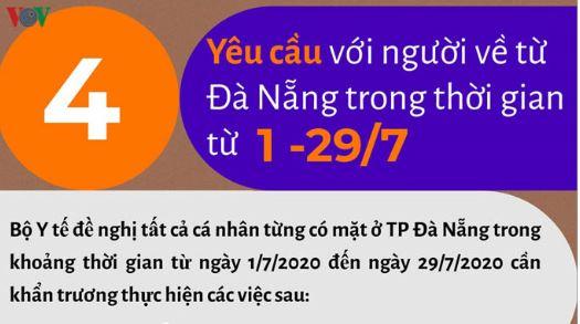 Những người đến Đà Nẵng từ 1-29/7 khẩn trương làm 4 yêu cầu này